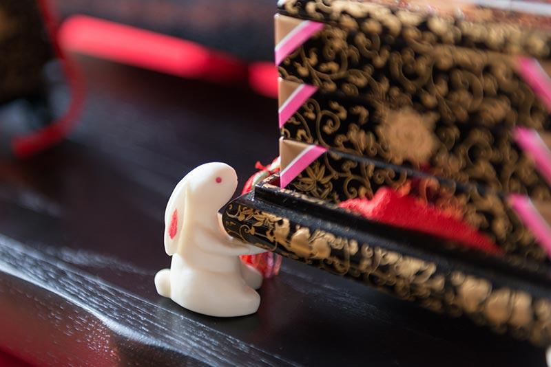 おぼこ段飾り「桃うさぎ」